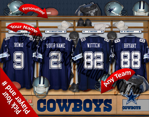 Dallas Cowboys Personalized Prints