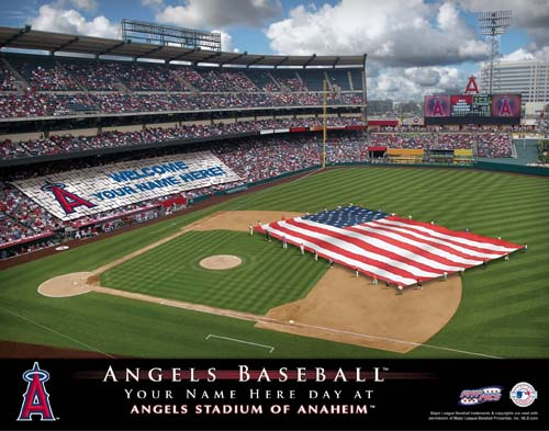LOS ANGELES ANGLES MLB STADIUM PRINT