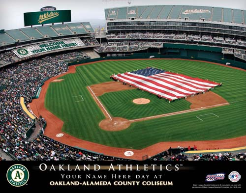 OAKLAND ATHLETICS MLB STADIUM PRINT