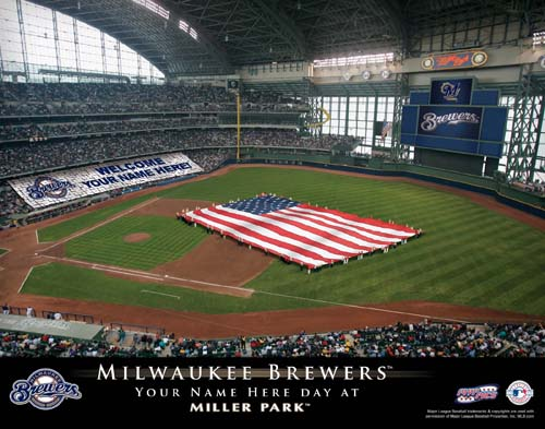 MILWAUKEE BREWERS MLB STADIUM PRINT