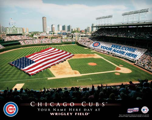 CHICAGO CUBS MLB STADIUM PRINT