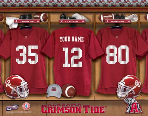 ALABAMA CRIMSON TIDE NCAA LOCKER ROOM PRINT