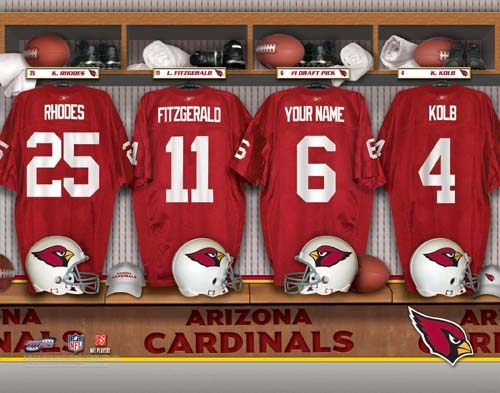 ARIZONA CARDINALS NFL LOCKER ROOM PRINT