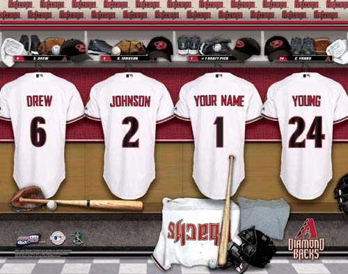 ARIZONA DIAMONDBACKS MLB LOCKER ROOM PRINT