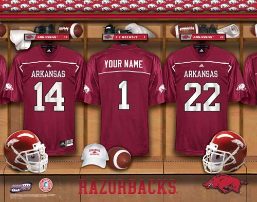 eed056ad9 ARKANSAS RAZORBACKS NCAA LOCKER ROOM PRINT  RAZORBACKS-NCAA-LOCKER ...