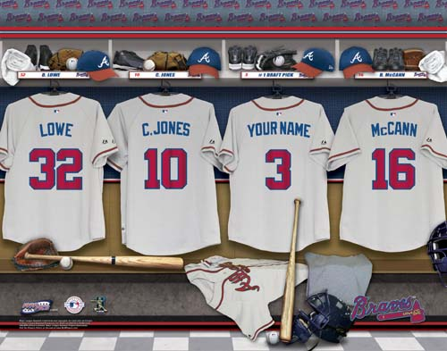 ATLANTA BRAVES MLB LOCKER ROOM PRINT
