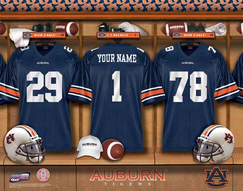 AUBURN TIGERS NCAA LOCKER ROOM PRINT