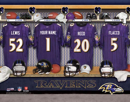 BALTIMORE RAVENS NFL LOCKER ROOM PRINT