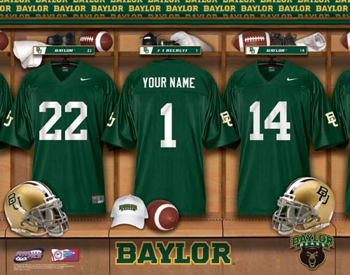 BAYLOR BEARS NCAA LOCKER ROOM PRINT