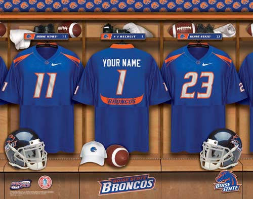 BIOSE STATE BRONCOS NCAA LOCKER ROOM PRINT