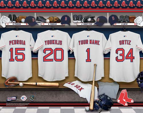 BOSTON RED SOX MLB LOCKER ROOM PRINT