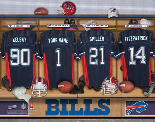 BUFFALO BILLS NFL LOCKER ROOM PRINT