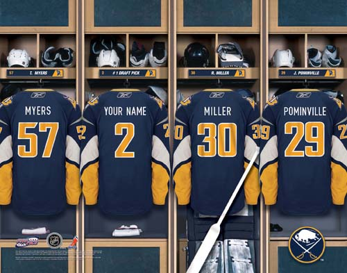 BUFFALO SABRES NHL LOCKER ROOM PRINT