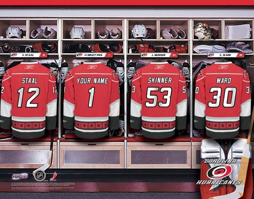 CAROLINA HURRICANES NHL LOCKER ROOM PRINT