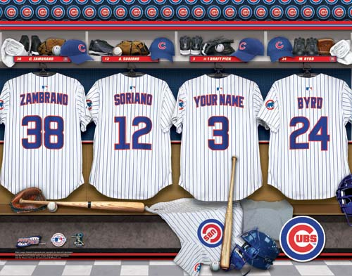 CHICAGO CUBS MLB LOCKER ROOM PRINT