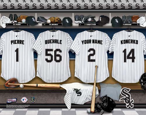 CHICAGO WHITE SOX MLB LOCKER ROOM PRINT