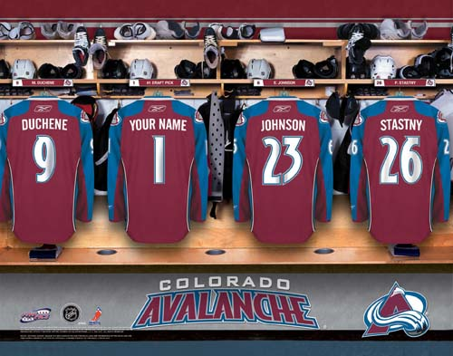 COLORADO AVALANCHE NHL LOCKER ROOM PRINT