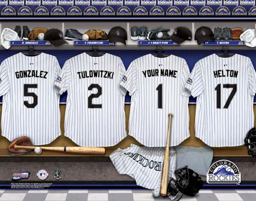 COLORADO ROCKIES MLB LOCKER ROOM PRINT