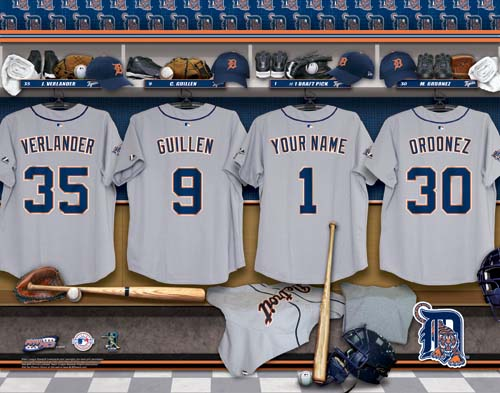 DETROIT TIGERS MLB LOCKER ROOM PRINT