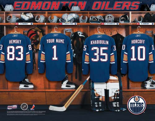 EDMONTON OILERS NHL LOCKER ROOM PRINT