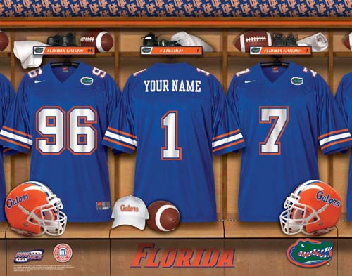 FLORIDA GATORS NCAA LOCKER ROOM PRINT