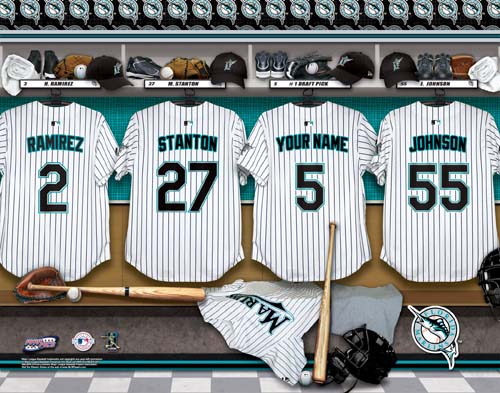 FLORIDA MARLINS MLB LOCKER ROOM PRINT