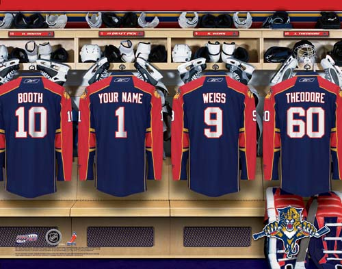 FLORIDA PANTHERS NHL LOCKER ROOM PRINT
