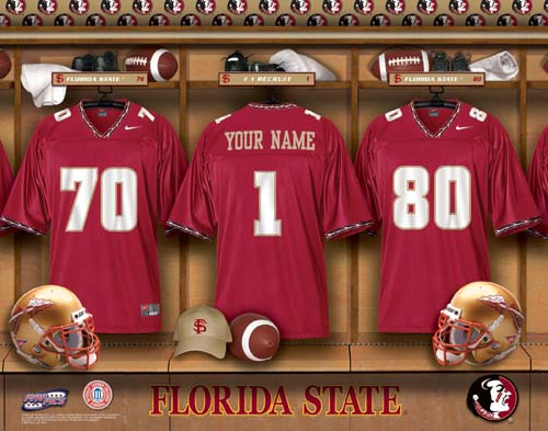 FLORIDA STATE SEMINOLES NCAA LOCKER ROOM PRINT