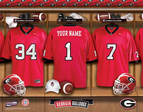 GEORGIA BULLDOGS NCAA LOCKER ROOM PRINT