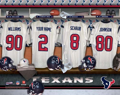 HOUSTON TEXANS NFL LOCKER ROOM PRINT
