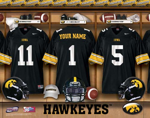 IOWA HAWKEYES NCAA LOCKER ROOM PRINT