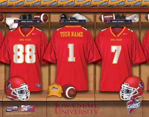 IOWA STATE CYCLONES NCAA LOCKER ROOM PRINT