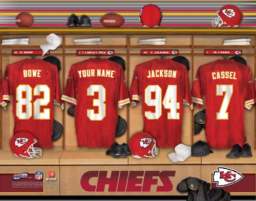 KANSAS CITY CHIEFS NFL LOCKER ROOM PRINT
