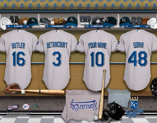 KANSAS CITY ROYALS MLB LOCKER ROOM PRINT