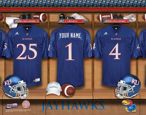 KANSAS JAYHAWKS NCAA LOCKER ROOM PRINT