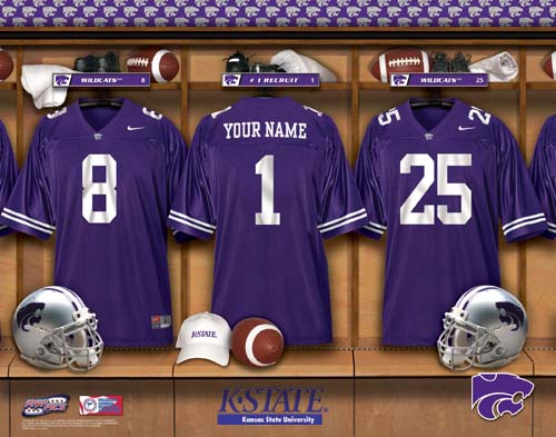 KANSAS STATE WILDCATS NCAA LOCKER ROOM PRINT