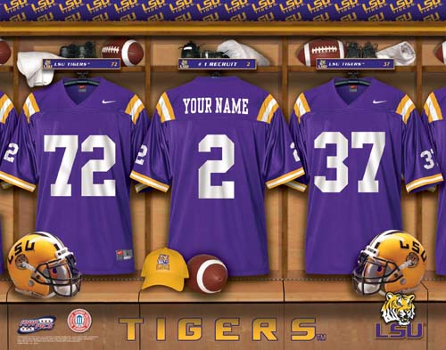 LOUISIANA STATE TIGERS NCAA LOCKER ROOM PRINT