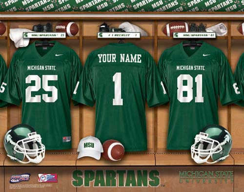 MICHIGAN STATE SPARTANS NCAA LOCKER ROOM PRINT