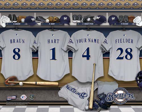 MILWAUKEE BREWERS MLB LOCKER ROOM PRINT