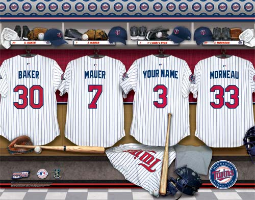 MINNESOTA TWINS MLB LOCKER ROOM PRINT