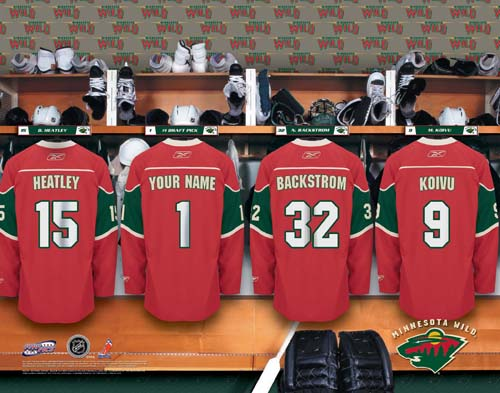 MINNESOTA WILD NHL LOCKER ROOM PRINT