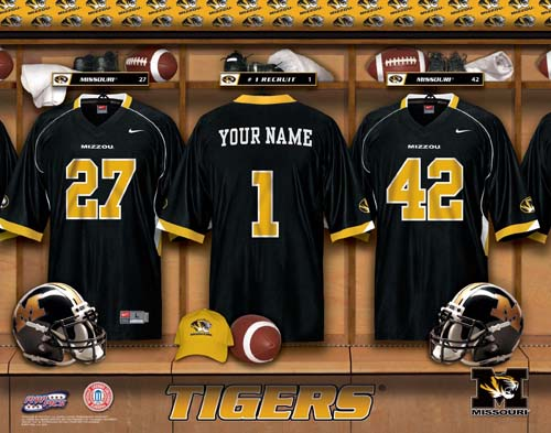MISSOURI TIGERS NCAA LOCKER ROOM PRINT