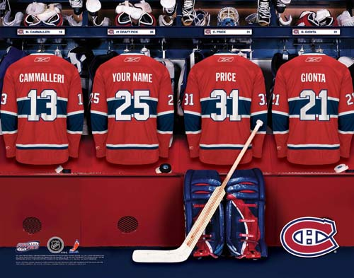 MONTREAL CANADIENS NHL LOCKER ROOM PRINT