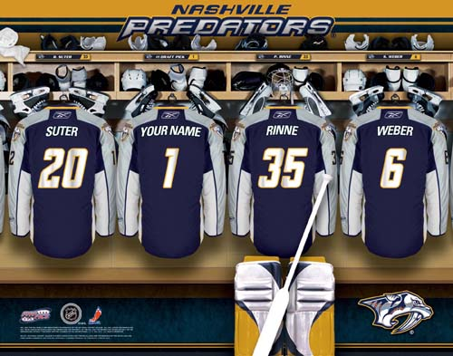 NASHVILLE PREDATORS NHL LOCKER ROOM PRINT