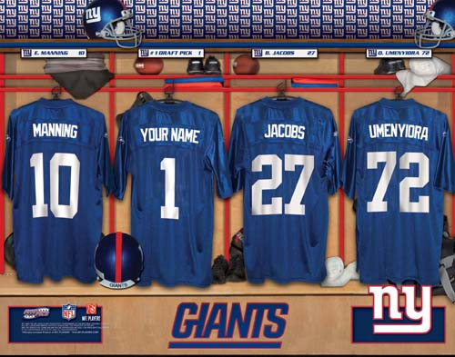 NEW YORK GIANTS NFL LOCKER ROOM PRINT