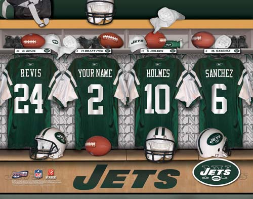 NEW YORK JETS NFL LOCKER ROOM PRINT