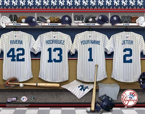 NEW YORK YANKEES MLB LOCKER ROOM PRINT