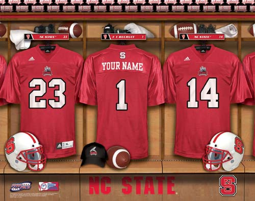 NORTH CAROLINA STATE WOLFPACK NCAA LOCKER ROOM PRINT