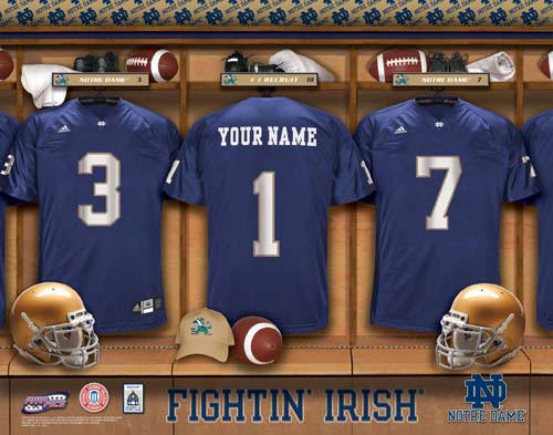 NOTRE DAME FIGHTING IRISH NCAA LOCKER ROOM PRINT