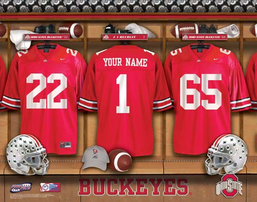 OHIO STATE BUCKEYES NCAA LOCKER ROOM PRINT